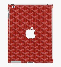 Red Goyard apple iPad Case/Skin