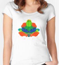 Tintenklecks Froschkönig Tailliertes Rundhals-Shirt