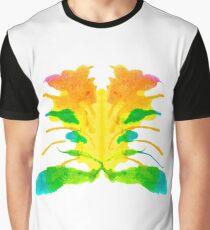 Tintenklecks Kreativ Rorschach Grafik T-Shirt
