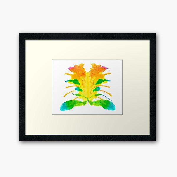 Tintenklecks Kreativ Rorschach Gerahmter Kunstdruck