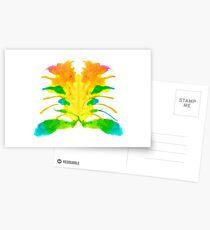 Tintenklecks Kreativ Rorschach Postkarten