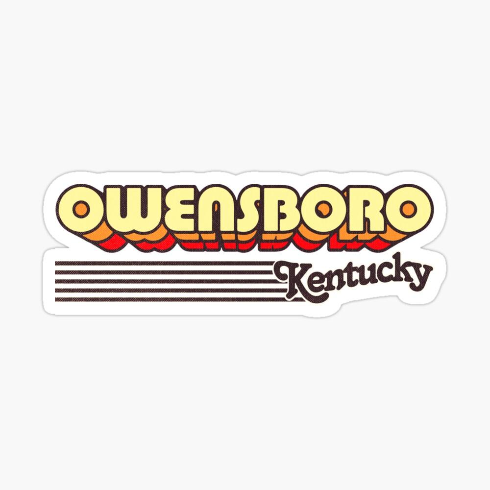 Owensboro, Kentucky | Retro Stripes Sticker
