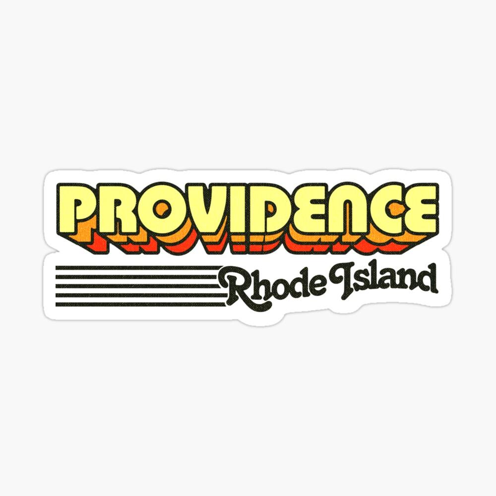 Providence, Rhode Island   Retro Stripes Sticker