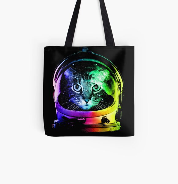 Astronaut Cat All Over Print Tote Bag
