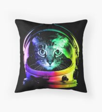 Astronaut Cat Throw Pillow