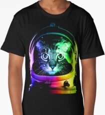 Astronaut Cat Long T-Shirt