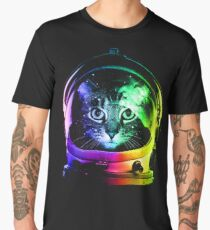 Astronaut Cat Men's Premium T-Shirt