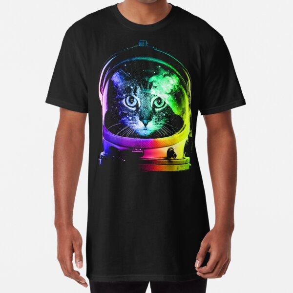 Gato astronauta Camiseta larga
