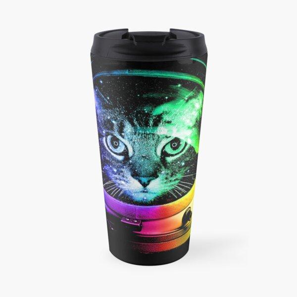 Astronaut Cat Travel Mug
