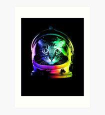 Astronaut Katze Kunstdruck