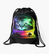 Astronaut Cat Drawstring Bag
