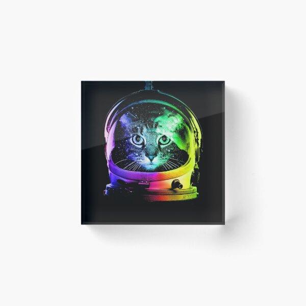 Astronaut Cat Acrylic Block