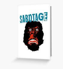 Tarjeta de felicitación Beastie Boys sabotaje camiseta
