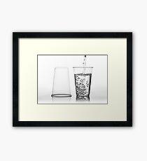 water into transparent expendable mug Framed Print