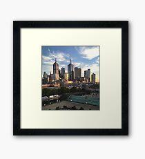 Morning Sunrise Over City Framed Print