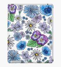 Floral print - blue and purple iPad Case/Skin