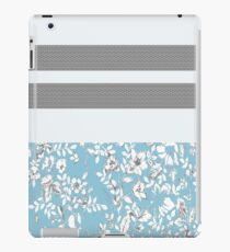 Blue Flowers With Stripes iPad Case/Skin