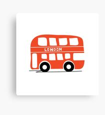 London Buses Come At Once Canvas Print