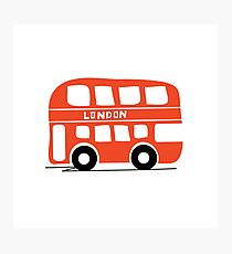 London Buses Come At Once Photographic Print