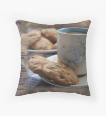 Grandma's Coffee Cookies (recipe) Throw Pillow