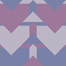 Violet Directions #redbubble #violet #pattern by designdn