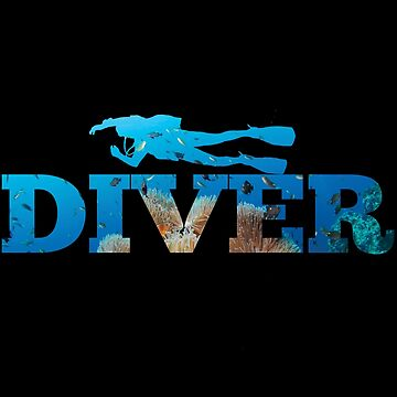Scuba Diver Ocean Design by kudostees