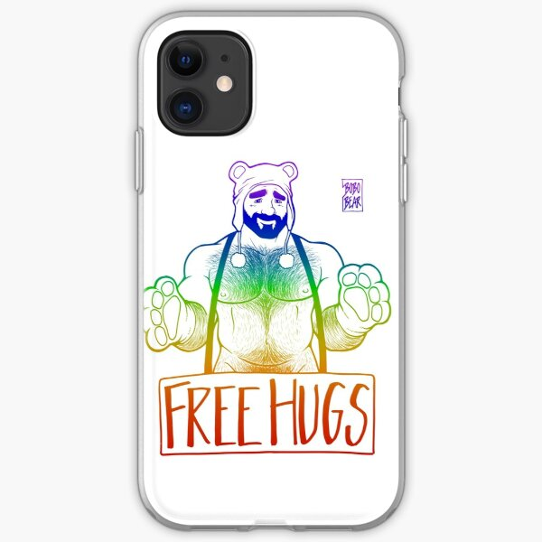 ADAM LIKES HUGS LINEART - GAY PRIDE iPhone Soft Case