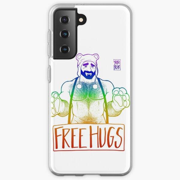ADAM LIKES HUGS LINEART - GAY PRIDE Samsung Galaxy Soft Case