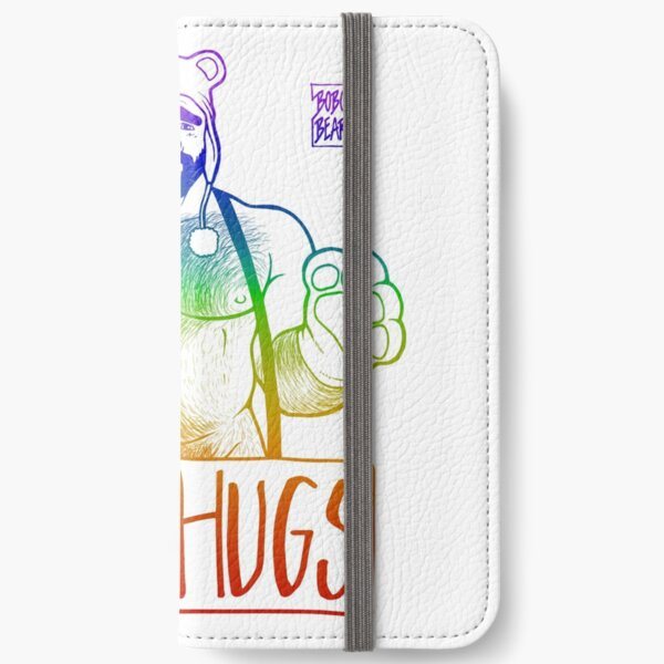 ADAM LIKES HUGS LINEART - GAY PRIDE iPhone Wallet
