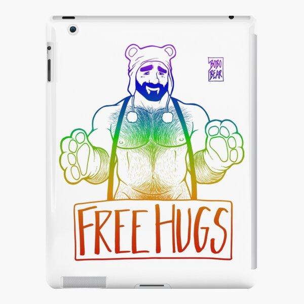ADAM LIKES HUGS LINEART - GAY PRIDE iPad Snap Case