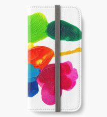 Blüten Tintenklecks Rorschach iPhone Flip-Case/Hülle/Skin