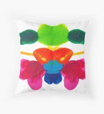 Blüten Tintenklecks Rorschach Kissen