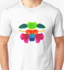 Blüten Tintenklecks Rorschach Unisex T-Shirt
