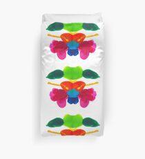 Blüten Tintenklecks Rorschach Bettbezug