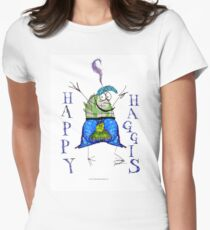 the happy haggis Women's Fitted T-Shirt