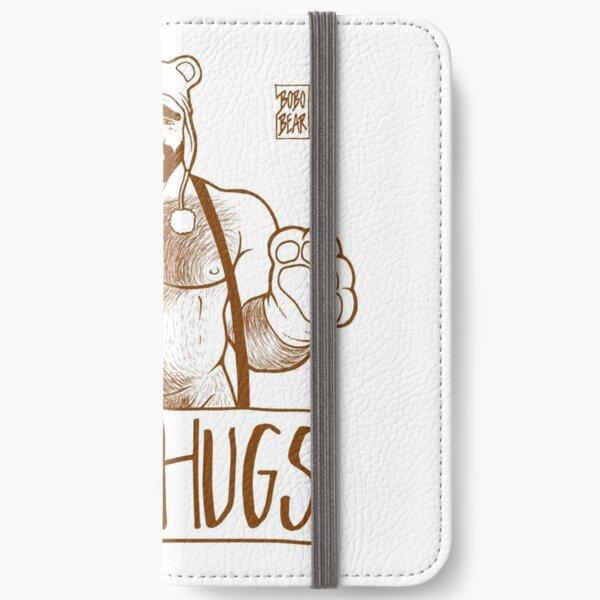 ADAM LIKES HUGS LINEART - BROWN iPhone Wallet