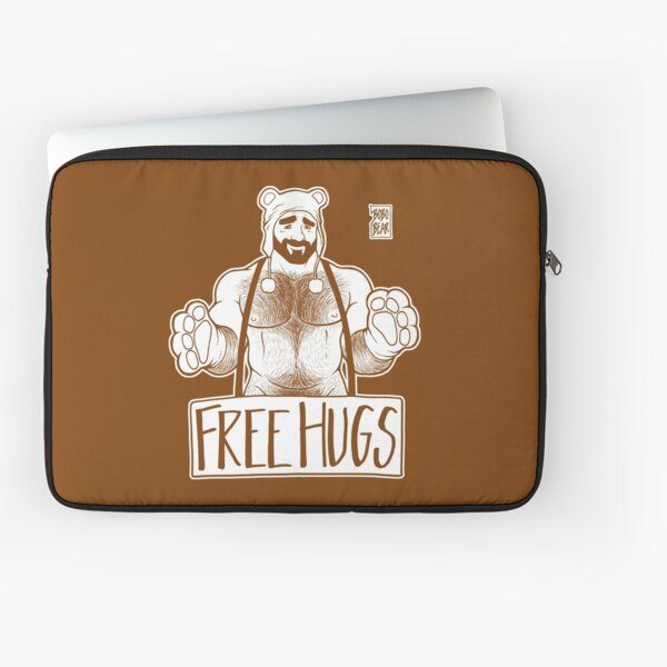 ADAM LIKES HUGS LINEART - BROWN Laptop Sleeve