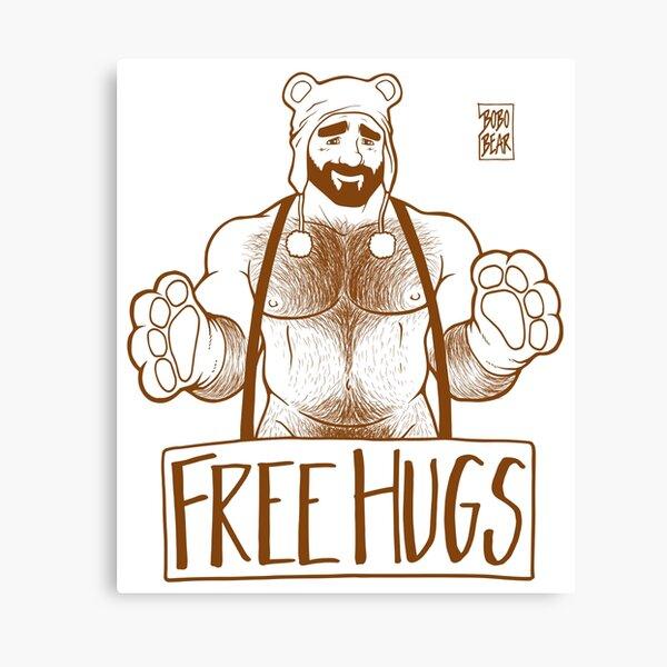 ADAM LIKES HUGS LINEART - BROWN Canvas Print