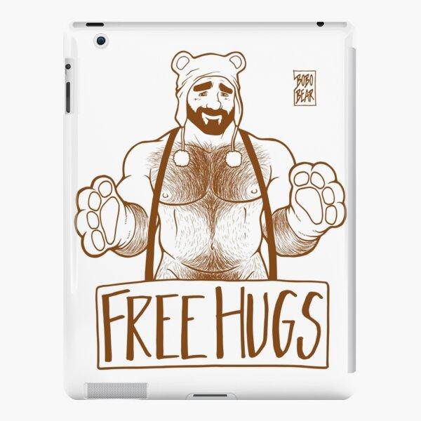 ADAM LIKES HUGS LINEART - BROWN iPad Snap Case