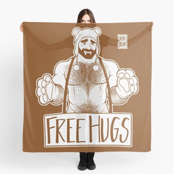 ADAM LIKES HUGS LINEART - BROWN Scarf