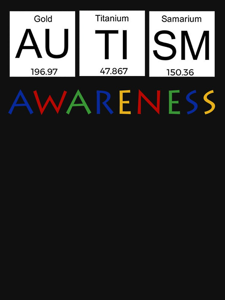 cool autism awareness t shirt periodic table science gifts for women men by anna0908