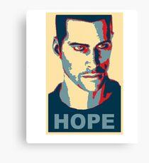 Commander Shepard HOPE Canvas Print