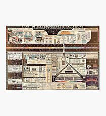 science infographic Photographic Print