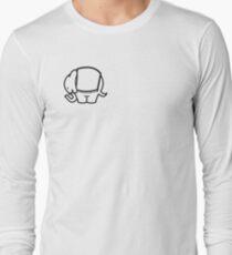 Cagiva Elefant small black Long Sleeve T-Shirt