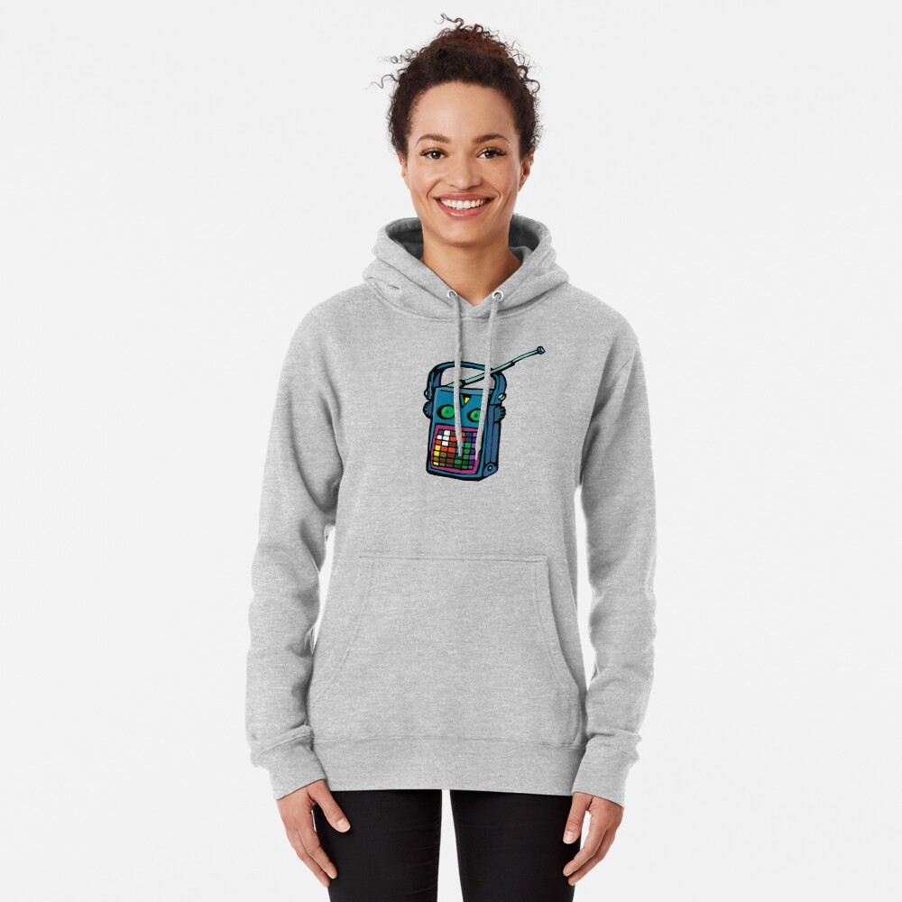 transistor with eyes Pullover Hoodie