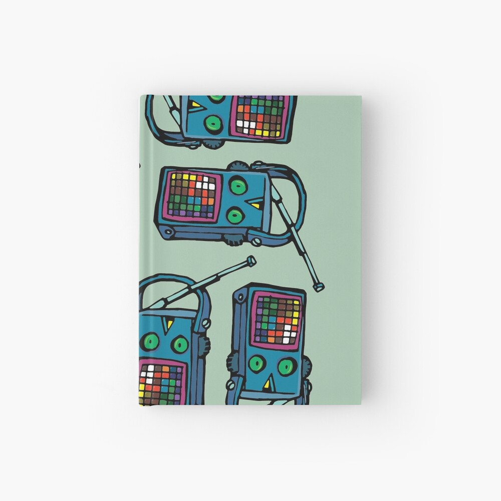transistor with eyes Hardcover Journal