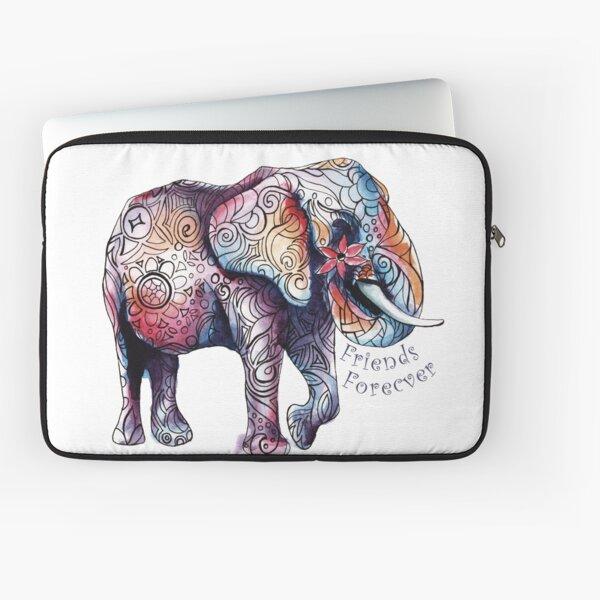 Kristins Flower of Friendship Elephant Laptop Sleeve