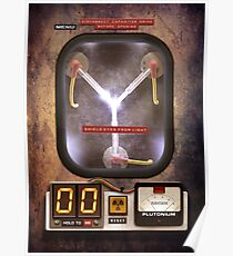 Steampunk rustic Flux capacitor Poster