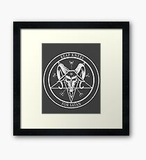 Reap Knees For Satan design art Framed Print