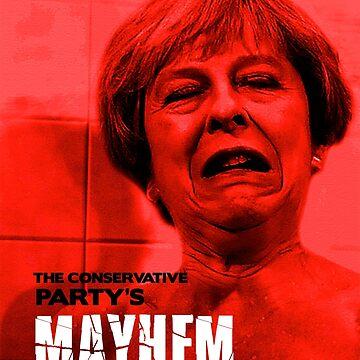 Theresa May Mayhem - Psycho poster by MazzaLuzza